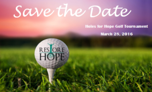 save the date for golf tourney